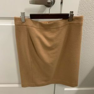 Jcrew Camel Pencil Skirt 2 NWOT